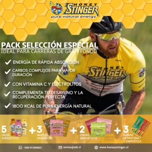 1 Honey Stinger GRAN FONDO Energy Food PACK